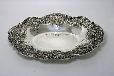 S. Kirk & Son Repousse Sterling Silver Tray Heavy Raised Pattern