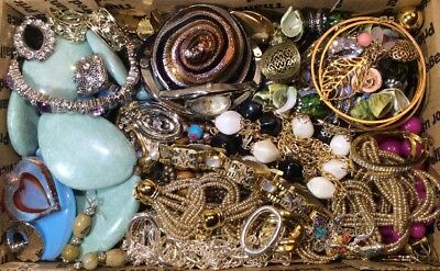 Huge Vintage - Now Jewelry Lot Estate Find Junk Drawer UNSEARCHED UNTESTED #427