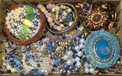 Huge Vintage - Now Jewelry Lot Estate Find Junk Drawer UNSEARCHED UNTESTED #429