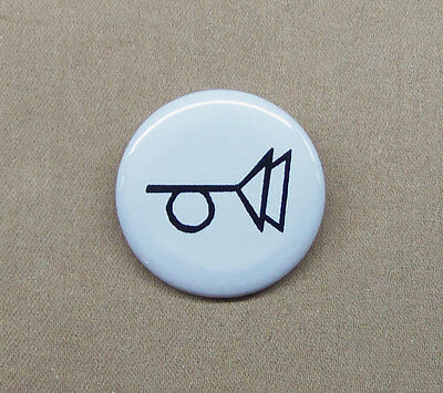 "The Crying of Lot 49 - Muted Post Horn Logo Button 1.25"" Thomas Pynchon Tristero"