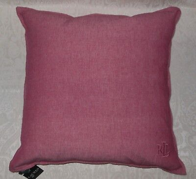 """Ralph Lauren Home Monogram Waterfowl Feather Red Decorative Throw Pillow 22"""" NWT"""