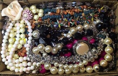 Huge Vintage - Now Jewelry Lot Estate Find Junk Drawer UNSEARCHED UNTESTED #435