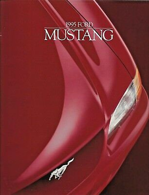 1995 Ford Mustang Sales Brochure 24 Pages New Condition