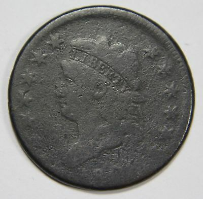 "1808 S-277 R2 ""12 STAR"" Classic Head Large Cent CRACKED REVERSE"