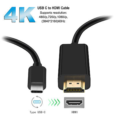 USB C to HDMI Cable USB 3.1 Type C to HDMI 4K Adapter Cable Thunderbolt LG G6