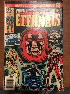 The Eternals  When Gods Walk The Earth No.9  Mar 1970's Marvel  Comic      T*