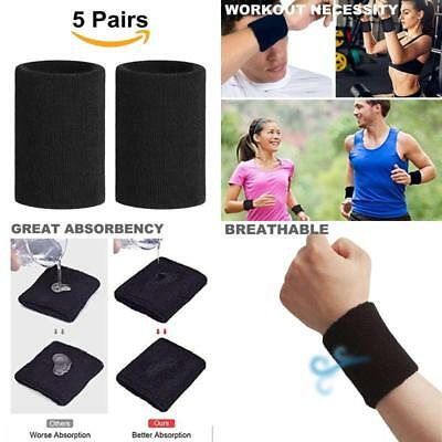 10 Pcs Sports Basketball Unisex Cotton Wrist Sweat Band Sweatband Wristband