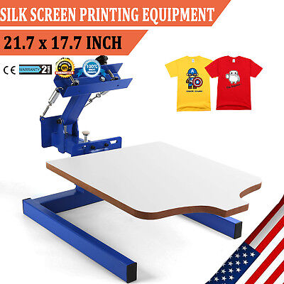 1 Color Silk Screen Printing Equipment 1 Station Screening Pressing DIY Kit