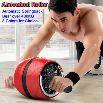 Fitness Ab Carver Pro Exercise Wheel Roller Abs Gym Automatic Springback 400KG