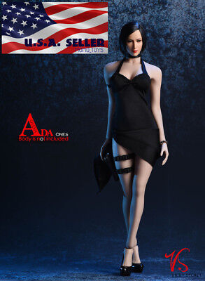 "1/6 Ada Wong Resident Evil Dress Set For 12"" PHICEN Hot Toys Figure Doll ❶USA❶"