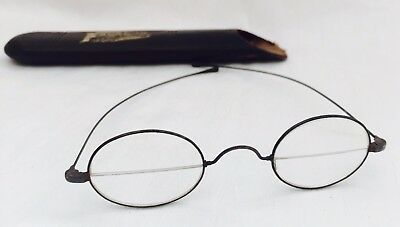 Antique Gun Metal? WAR FRANKLIN Look SPLIT LENSES Spectacles with Case