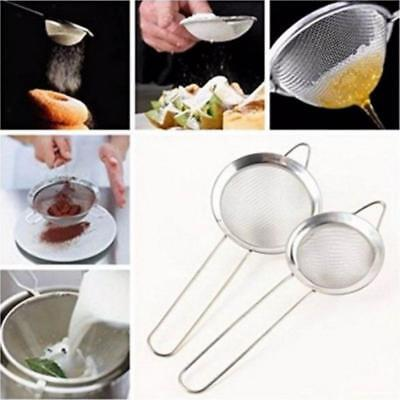 2Pcs Ladle Colander Strainer Stainless Steel Soup Slotted Spoon Kitchen Tool