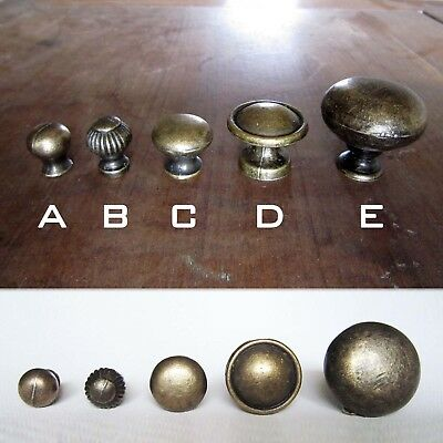 Antique Brass Single Hole Drawer Cabinet Cupboard Door Window Handle Pull Knob