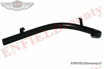 New Black Powder Coated Exhaust Silencer Bend Pipe Royal Enfield Bullet 500 @de
