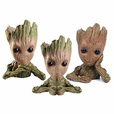 Guardians of The Galaxy Vol. 2 Baby Groot Figure Flowerpot Pen Pot Best Toy Gift