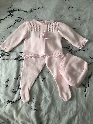 Newborn Knitted Set - Pink Romany Spanish