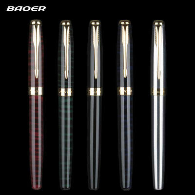 5Colors BAOER 388 Metal China Fountain Pen Fine 0.5mm Nibs Writing Gift Luxury