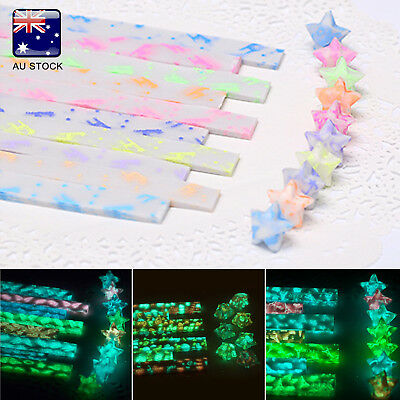 210pcs Luminous DIY Folding Paper Star Gift Lucky Star Origami Decorative Strips