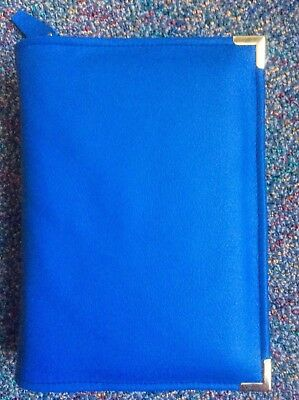 Genuine Stunning Blue  leather  bible cover for New World Translation (DLbi12-E)