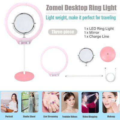 NEW Bright LED Ring Lamp Selfie Fill Light Photography for Cellphone Camera HT