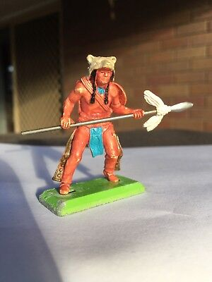 Vintage Toy Soldier - Britains Ltd Deetail Hand-Painted Sioux Indian