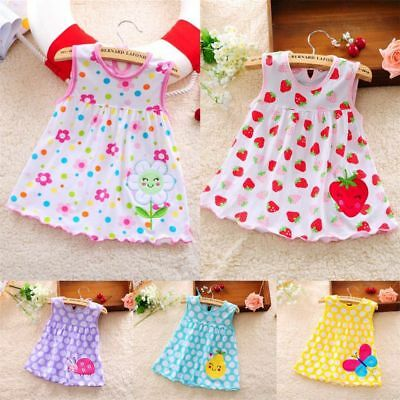 Baby Girl Dress Infant A-Line Cotton Sleeveless Princess Lace Floral Dress