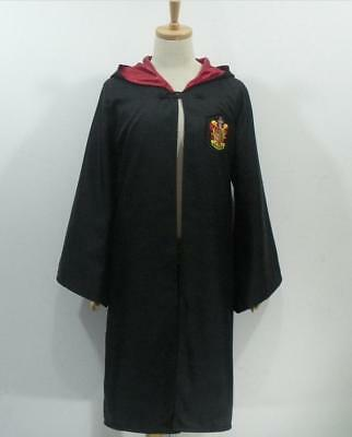 Harry Potter Cloak Outfit Robe Cape Cosplay Costume Coat Gryffindor
