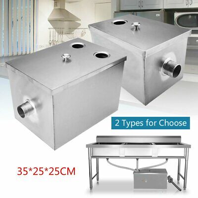 Stainless Steel Grease Trap Interceptor Set For Restaurant Kitchen Wastewater