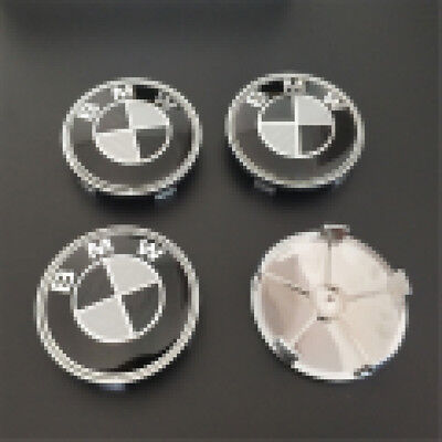4 x 68mm For BMW Wheel Center Hub Cap Emblem Logo Trims E30,E36,E46,E53,E60,E92