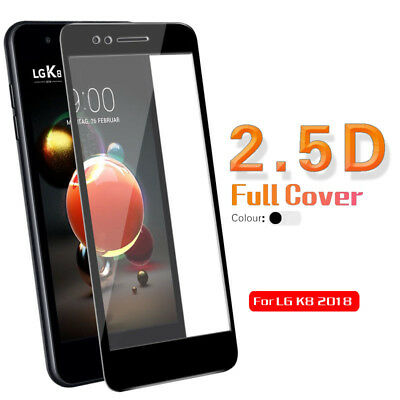 9H Full Cover Screen Protector Tempered Glass Guard Cover Film For LG K8 2018