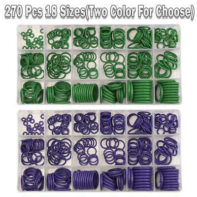 270pcs Assortment Kit Car A/C System Air Conditioning O-Ring Gas Oil Proof Tool