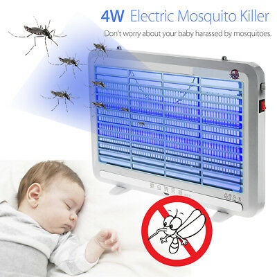 4W Electric UV Insect Killer Mosquito Pest Fly Bug Zapper Catcher Trap LED Light