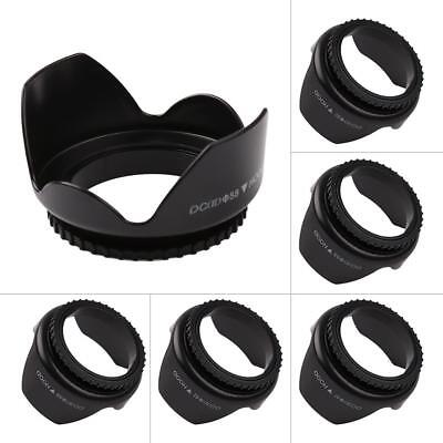 52mm-67mm Lens Hood Screw Mount Petal Flower Shape for Canon Nikon Sony Pentax