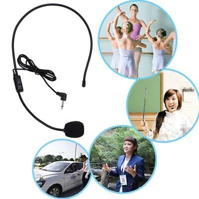 Portable Lightweight Wired 3.5mm Plug Clear Guide Lecture Speech Headset W/ Mic