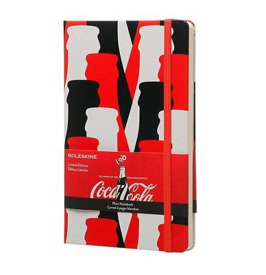Moleskine Coca-Cola Limited Edition Large Plain Notebook Red