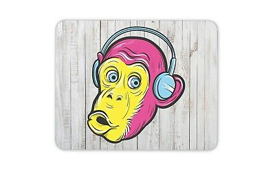 Animal Children/'s Computer Fun Gift #15168 Funky Monkey Funny Mouse Mat Pad