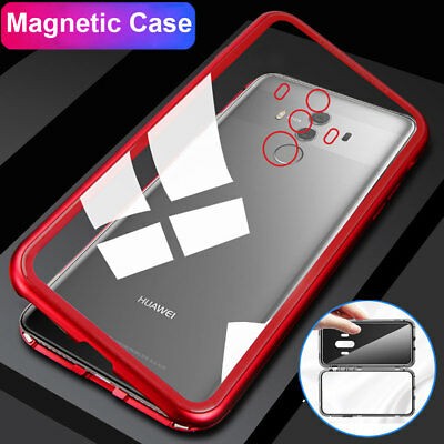 For Honor 10 Magnetic Adsorption Case 360° Tempered Glass Cover for Mate 10 Pro