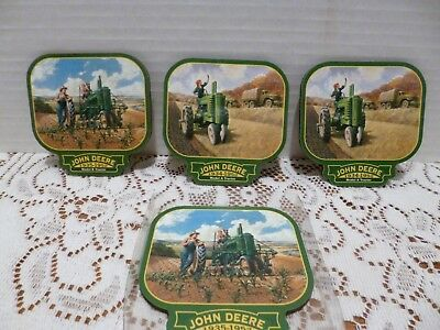 Four John Deere 1935-1952 Model A And B Cork Coasters