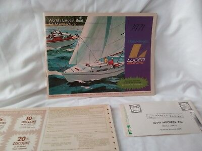Luger Boat Kits  1971  Molded Fiberglass Kit Boats Catalog - original packaging