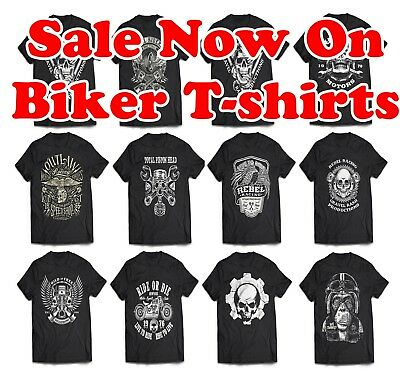 9b84500949 Biker T-Shirt Sale UP to 5XXL Motorcycle Tshirts, Outlaw Skull, Harley  Triumph