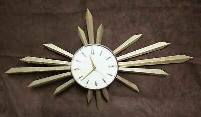 Beautiful vintage Metamec Sunburst Wall Clock