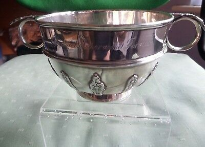 Antique Mappin & Web Sterling Silver Decorated Porringer / Bowl London 1915