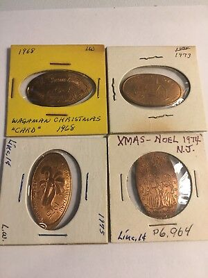 20 elongated coins from various holidays. Christmas New Years Easter Santa