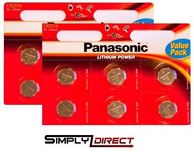 12 x Panasonic CR2016 3V Lithium Coin Cell Battery 2016