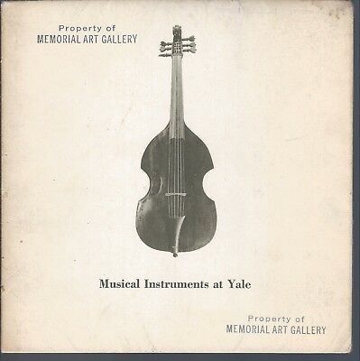 1960 Musical Instruments At Yale ~ Western Instruments 15Th - 20Th C. Photograph