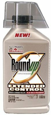 Roundup Extended Control 32Oz.Concentrate Weed &Grass Killer Plus Weed Preventer