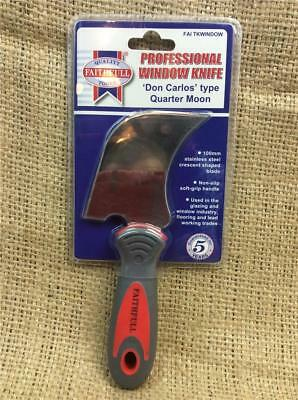 Clearance Lot Wb47 Don Carlos Window Tool Quarter Moon Stainless Steel Glazing