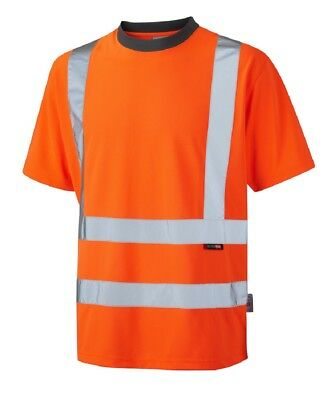 Hi Visibility Orange T-Shirt EN471 Class 2 Hi Viz Reflective Fluorescent Tee