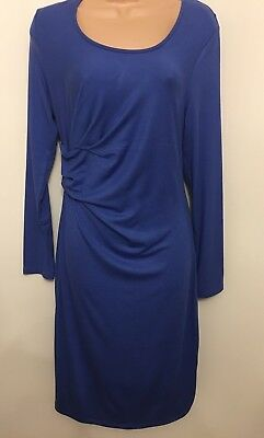 c6ad7bbc028ac Marks And Spencer Bnwt, Maternity And Beyond Blue Long Sleeve Dress Size 12.