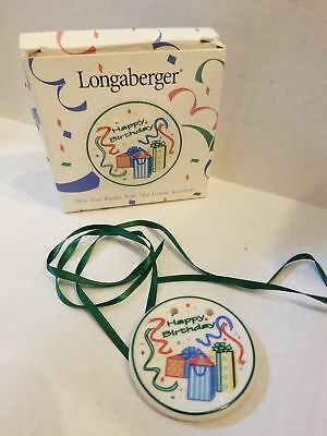 Longaberger 1997 Tie On Happy Birthday #31747